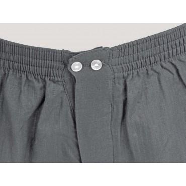 Kent detail - Men's gray cotton boxer shorts