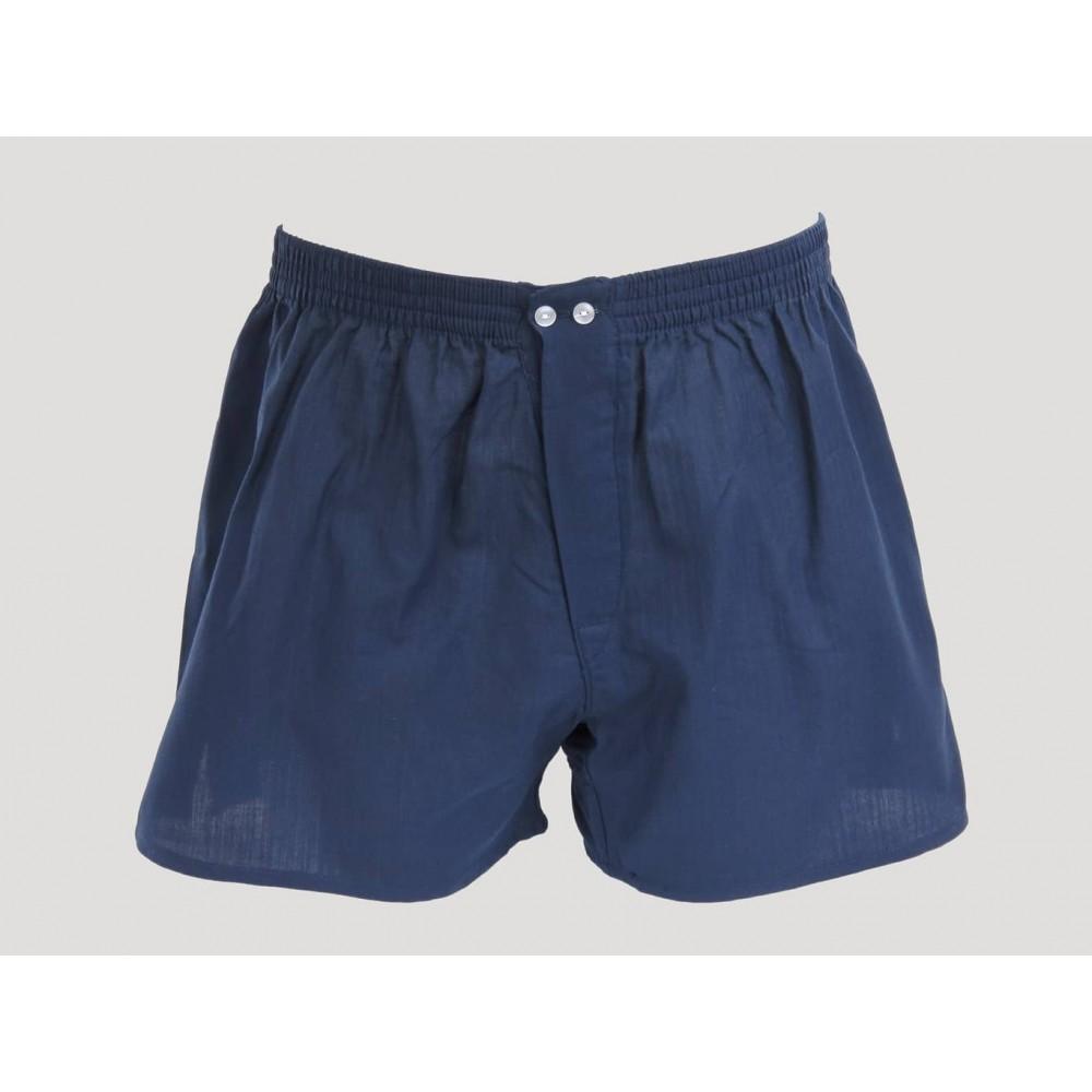 Kent - Men's blue cotton boxer shorts