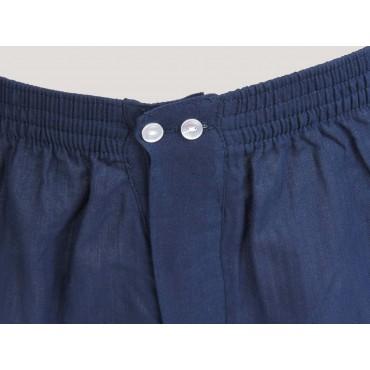 Kent detail - Men's blue cotton boxer shorts