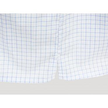 Spacco Kent - Boxer da uomo bianchi a quadretti azzurri e blu taglie forti