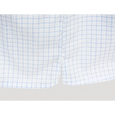 Kent slit - white boxers for men with blue and blue squares