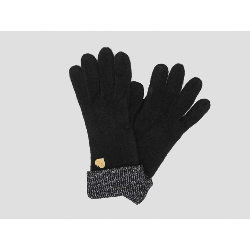 Modello - guanti da donna con risvolto in lurex