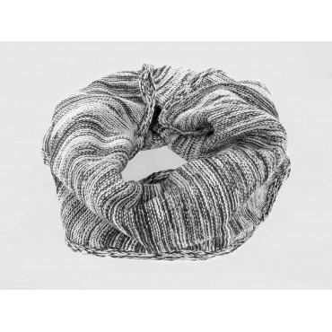 Grigia- Sciarpa ad anello da uomo bicolore casual