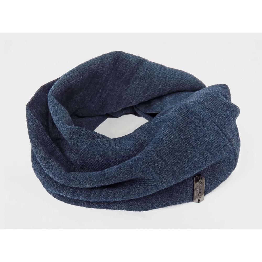 blu - sciarpa ad anello da uomo jersey