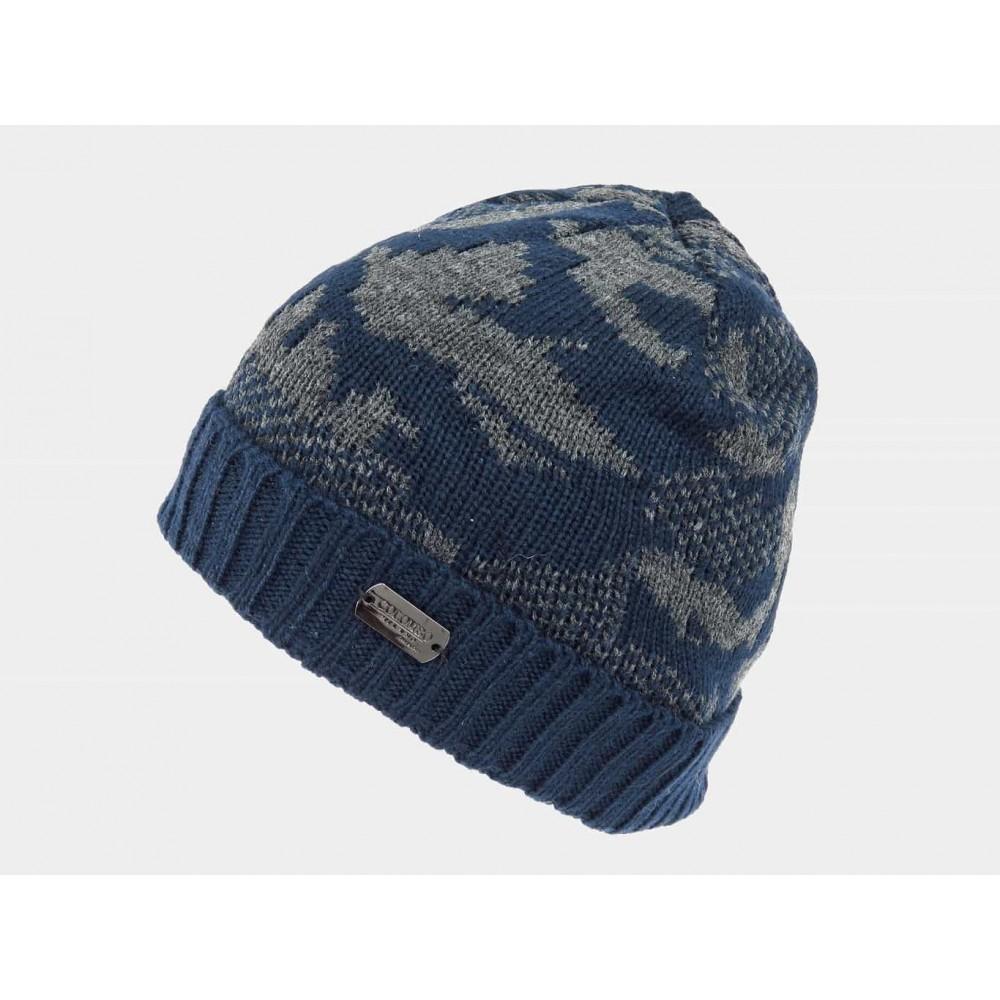Blu- Cappello da uomo jacquard mimetico