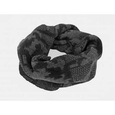 nera - sciarpa ad anello da uomo jacquard mimetico
