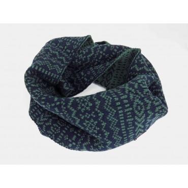 verde - sciarpa da uomo motivi geometrici