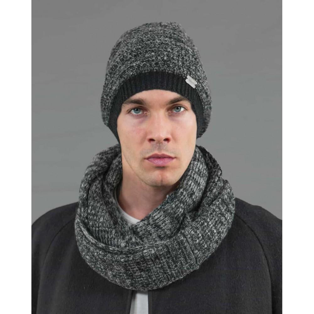 cappello e sciarpa da uomo finissaggio mohair