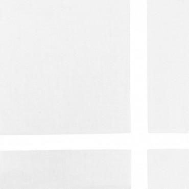 Dettaglio - Versailles - fazzoletto di cotone da uomo bianchi con riga di raso larga