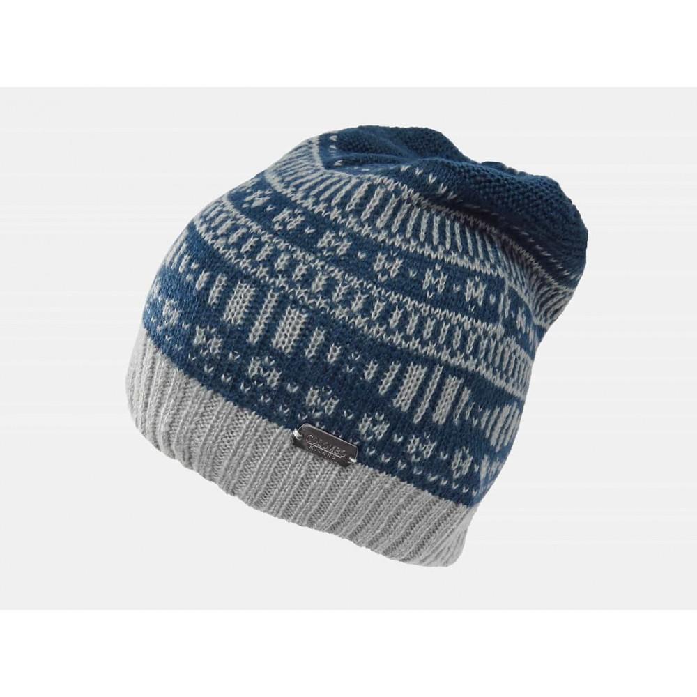 blu - Cappello da uomo morbido con motivi geometrici