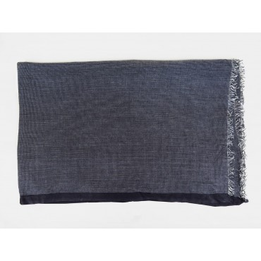 Sciarpa leggera elegante blu