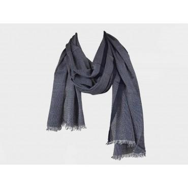 Elegant midnight blue scarf in design box