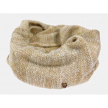 Beige - sciarpa da donna finissaggio mohair con lurex