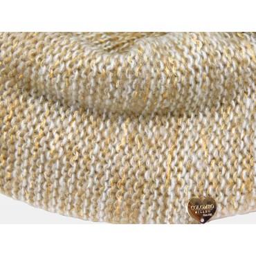 Dettaglio cuoricino - sciarpa da donna finissaggio mohair con lurex