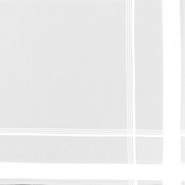Versailles - white handkerchiefs with multiple satin stripes detail