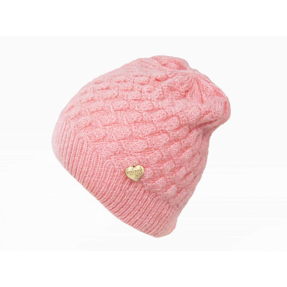 Cappello rosa morbido a spicchi da bimba