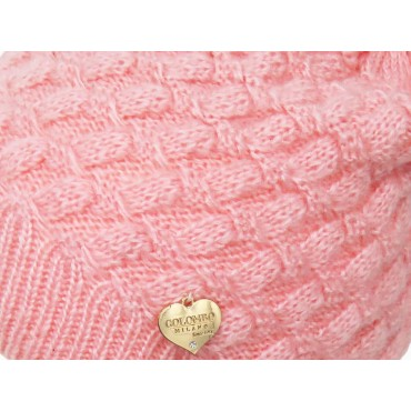 Dettaglio - Cappello rosa morbido a spicchi da bimba