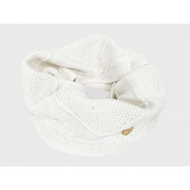 Ring scarf knitted with lurex nature