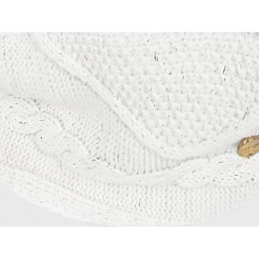 Dettaglio - sciarpa ad anello lavorata a trecce e catene con lurex