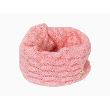 Sciarpa rosa morbida a spicchi da bimba