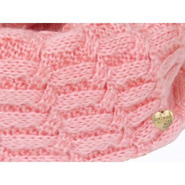 Dettaglio - Sciarpa rosa morbida a spicchi da bimba
