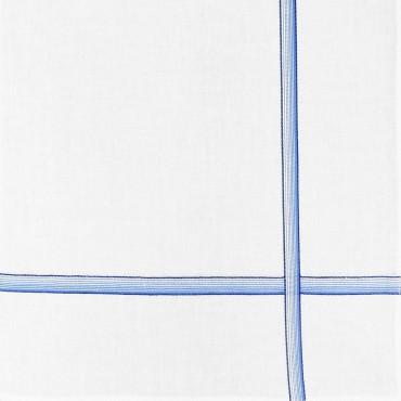 Variante blu - Cervinia - fazzoletto di cotone da uomo con righe sfumate