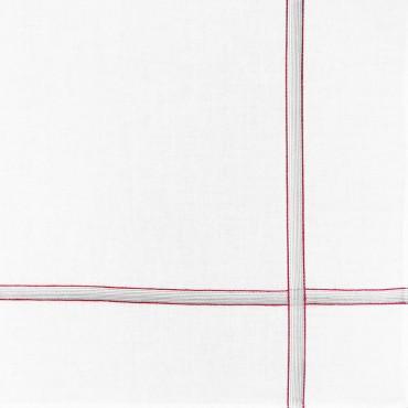 Variante rossa - Cervinia - fazzoletto di cotone da uomo con righe sfumate