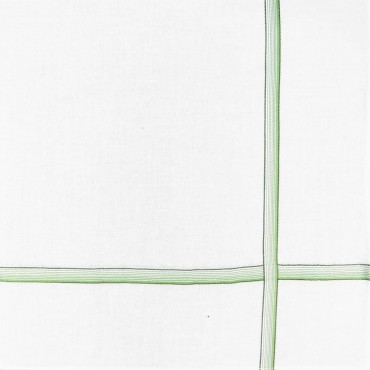 Variante verde - Cervinia - fazzoletto di cotone da uomo con righe sfumate