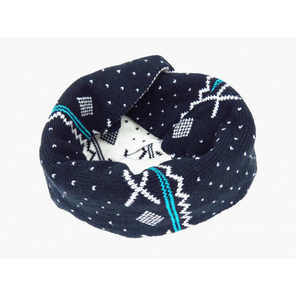 azzurra- sciarpa ad anello jacquard da bimbo con motivi geometrici