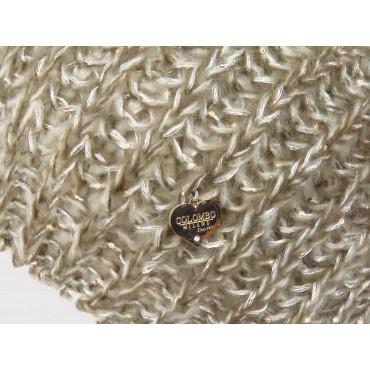 Dettaglio cuoricino - Berretto da donna morbido con paillettes