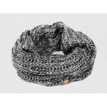 Grigio - sciarpa morbida da donna con paillettes e lurex