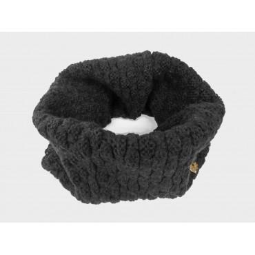 Nero - sciarpa ad anello da donna lavorata a maglia