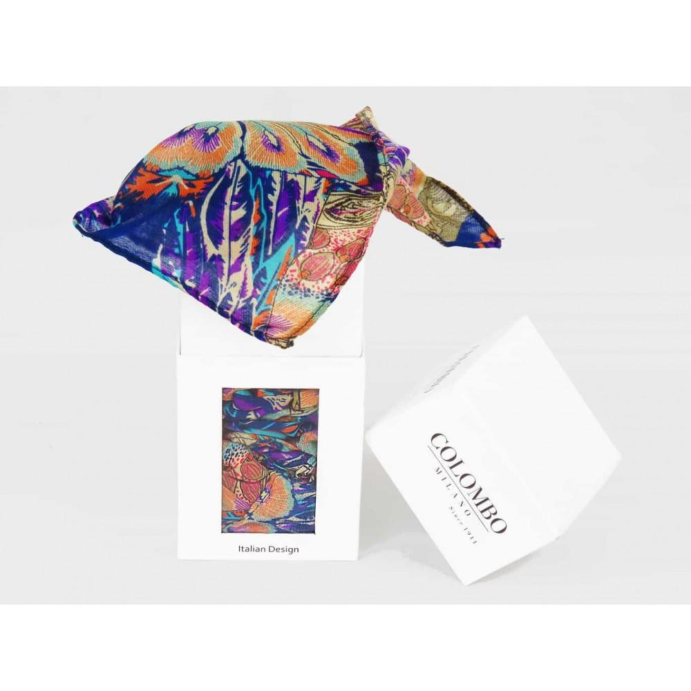 scatola - Sciarpa leggera etnica multicolor da donna