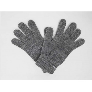Elastic gloves with lurex and gift box - grey