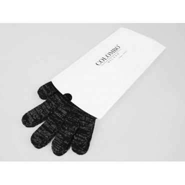 Elastic gloves with lurex and gift box - box