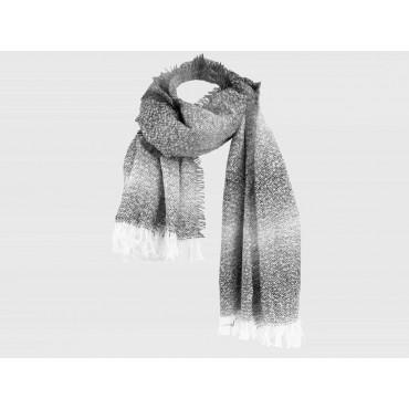 Wide women's grey shaded scarf