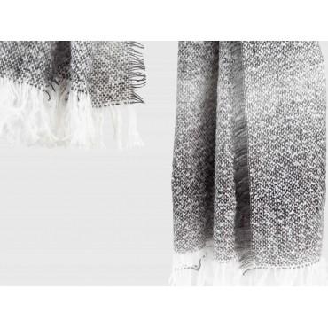 Dettaglio - sciarpa ampia da donna con fantasia sfumata