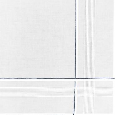 Variante blu - Cervinia - fazzoletto di cotone da uomo con rete di righe sottili