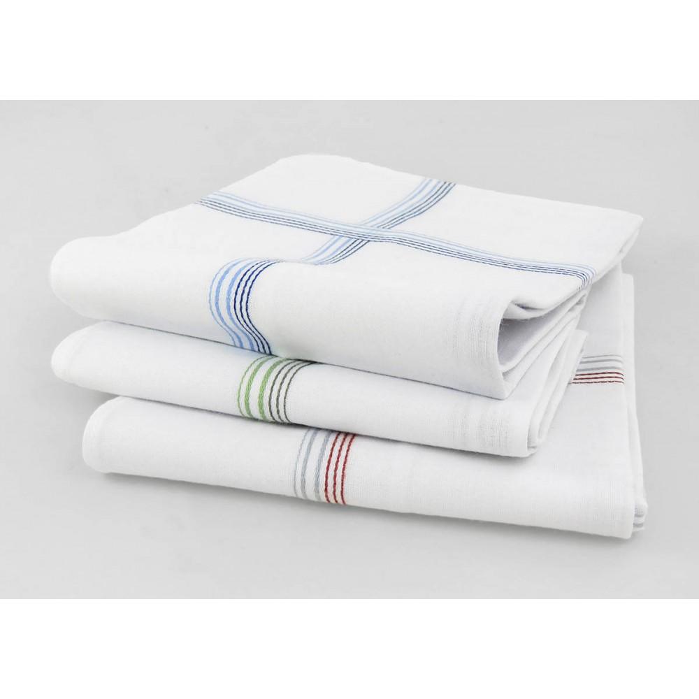 Varianti - Cervinia - fazzoletti di cotone da uomo con righe fini in due colori