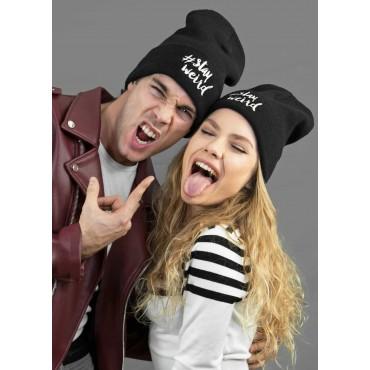 Modelli - morbido cappello nero unisex con scritta