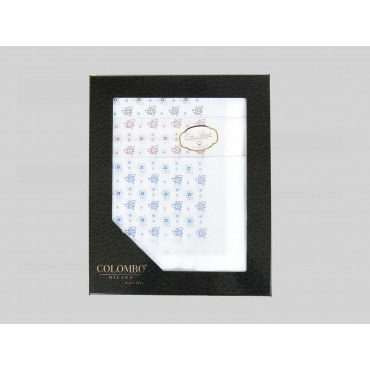 Principe - dozen of white men's handkerchiefs with tie motifs - box