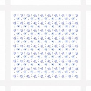 Principe - dozen of white men's handkerchiefs with tie motifs - detail