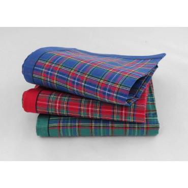 Varianti - Scozia - fazzoletti di cotone da uomo a fantasia scozzese
