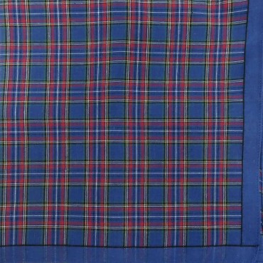 Scozia des. 1 - dozen of checkered handkerchiefs - navy