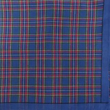 Variante blu - Scozia - fazzoletto di cotone da uomo a fantasia scozzese
