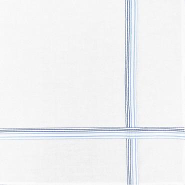 Variante blu - Cervinia - fazzoletto di cotone da uomo con righe fini in due colori