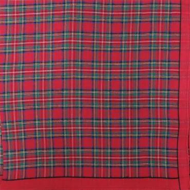 Scozia des. 1 - dozen of checkered handkerchiefs - red
