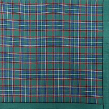 Scozia des. 1 - dozen of checkered handkerchiefs - green