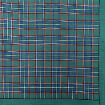 Variante verde - Scozia - fazzoletto di cotone da uomo a fantasia scozzese
