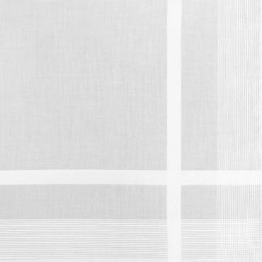 Dettaglio - Oxford - fazzoletto di cotone bianco da uomo con righe di raso fini e Orlo Roulè